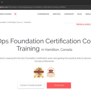 KnowledgeHut DevOps Foundation Course Website Screenshot