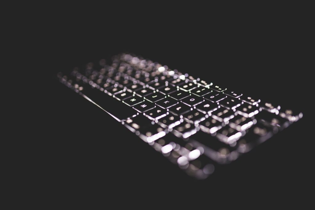 Backlit MacBook keyboard