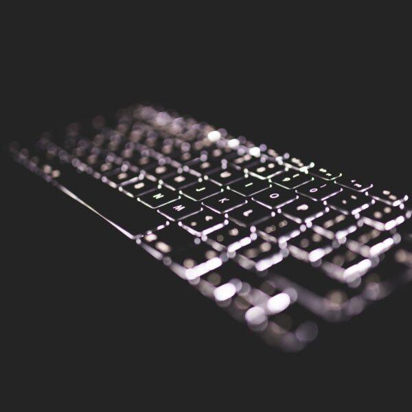 Backlit MacBook keyboard