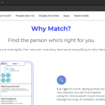 Match.com website screenshot