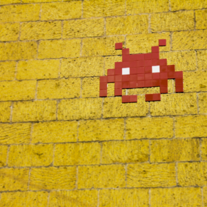 Space Invader Wall Art
