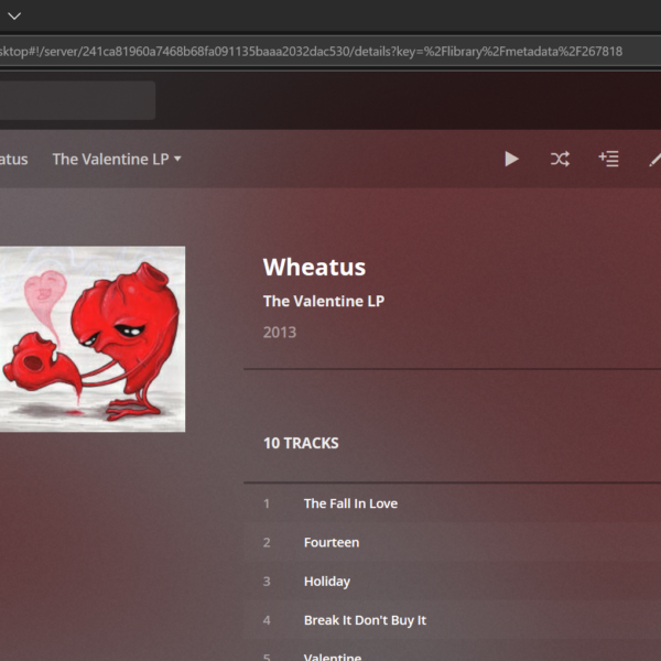 Wheatus - The Valentine LP on Plex Server