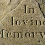 In Loving Memory Chiseled Into Stone