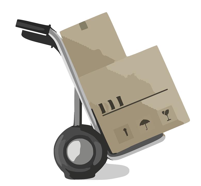 Moving boxes illustration