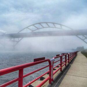 Hoan Bridge, Milwaukee, Wisconsin, USA