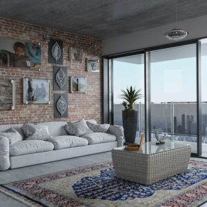 Modern apartment with balcony