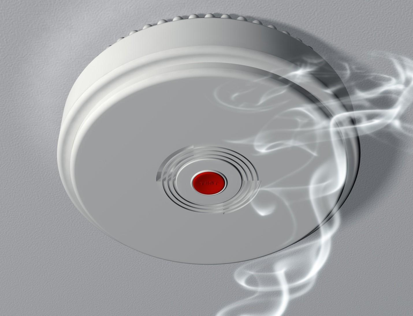 Smoke under smoke alarm