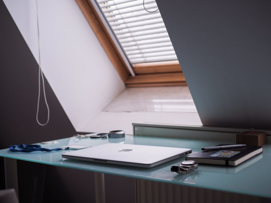 Skylight behind desk