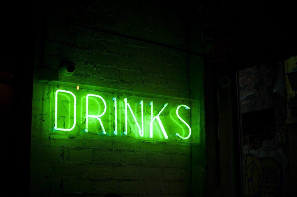 Drinks neon sign