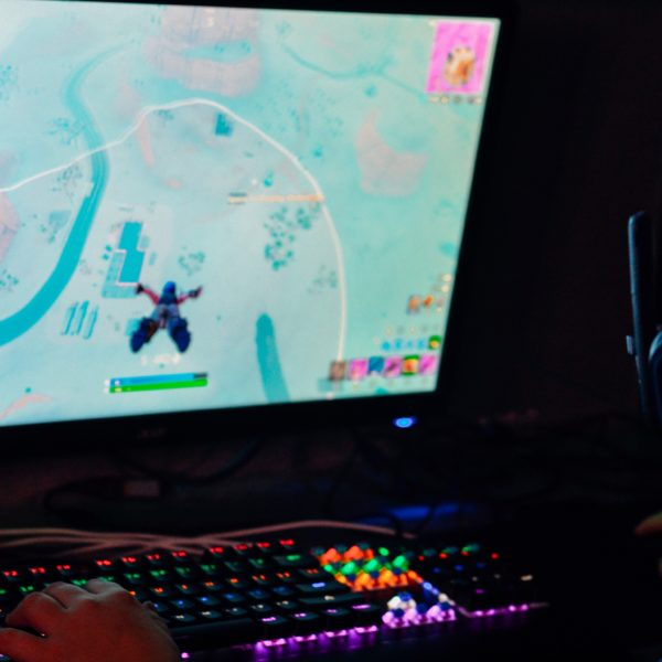 Fortnite on a gaming PC