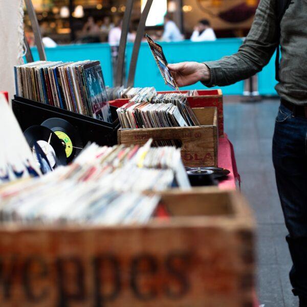 Vinyl record stall