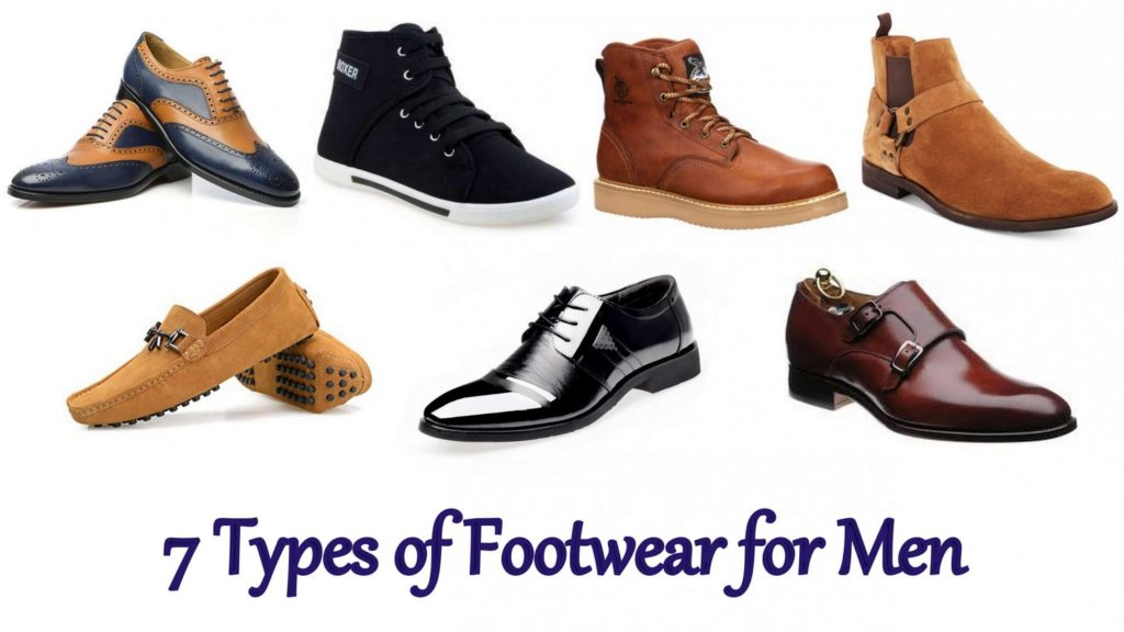 7 Types of Footwear for Men