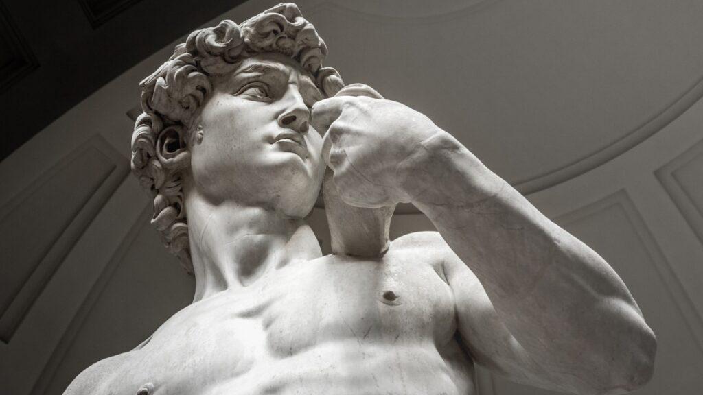 Biblical David (Michelangelo) 1501-1504 marble statue