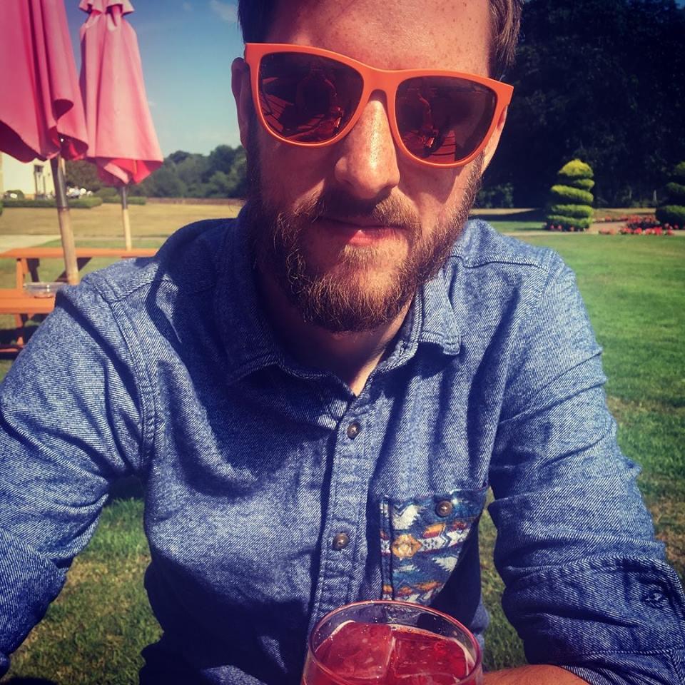 Dan Booth in sunglasses