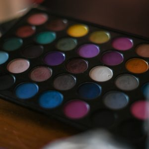 Colorful makeup palette