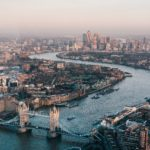 Aerial photograph of London during the day