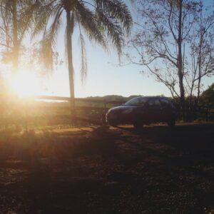 Ford Ka car in the sun