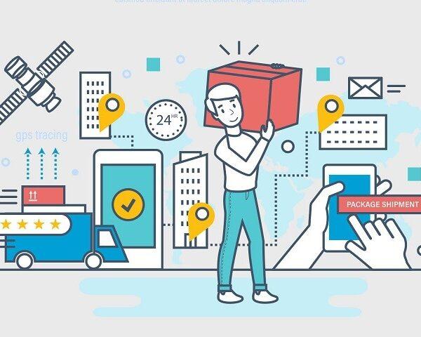 Illustration featuring technology