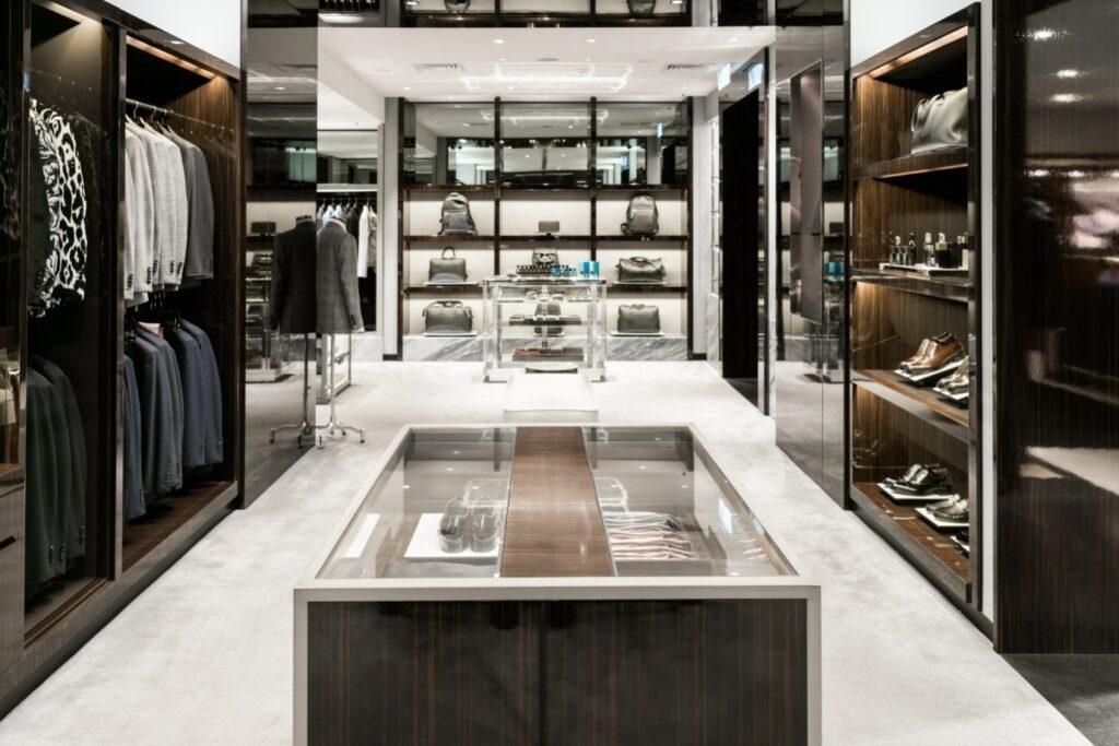 Luxury clothing store