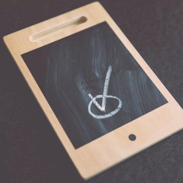 Smartphone shaped chalkboard