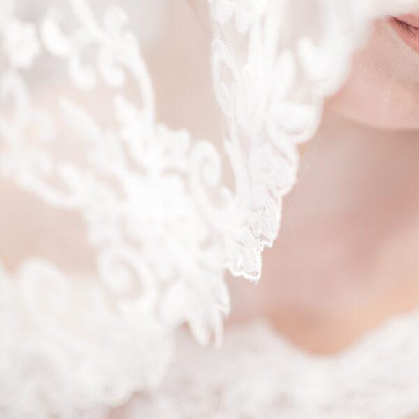 Macro shot of bridal veil