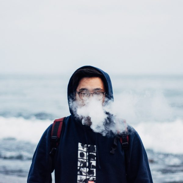 Vaping on the beach