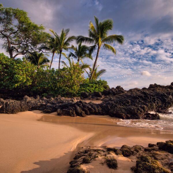 Beautiful beach in Maui, Hawaii, USA