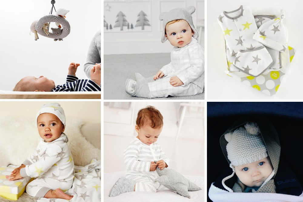 Collage of infant photographs