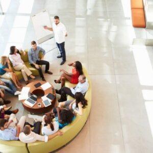 Modern office meeting