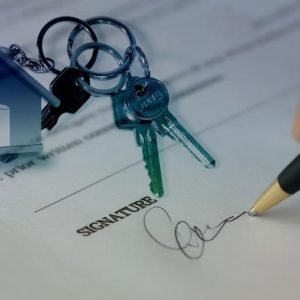 Signing a property contract