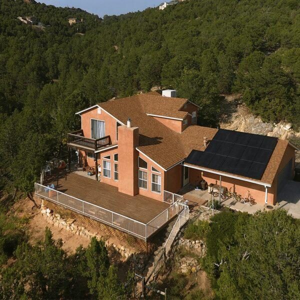 Solar panels on house in El Paso, Texas