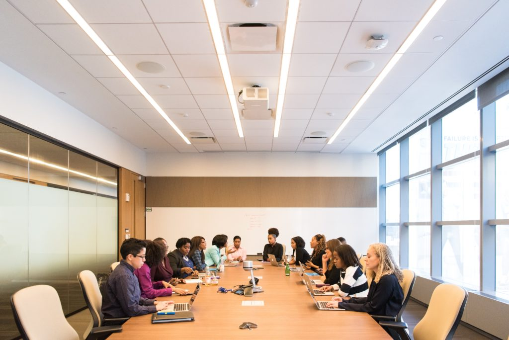 Group of people in conference room