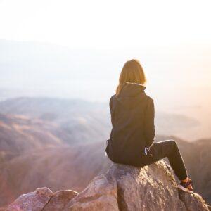 Woman admiring view