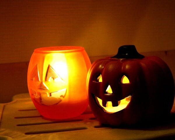 Jack O Lantern, candles