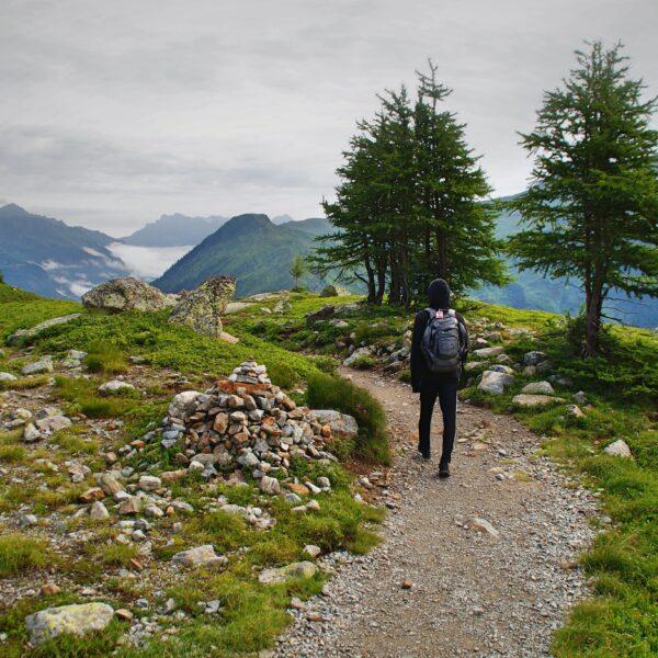 Hiking at Lac Blanc, France