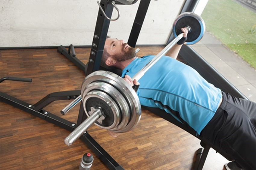 Bench press in home gym