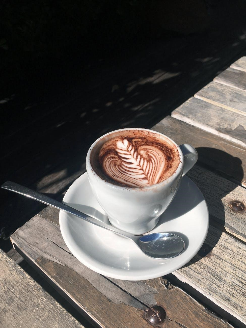 Cappuccino with a chocolate design on top