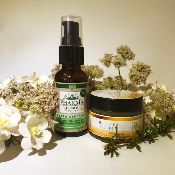 Pharma Hemp Complex CBD Oil and Ginger Honey Hemp Body Balm