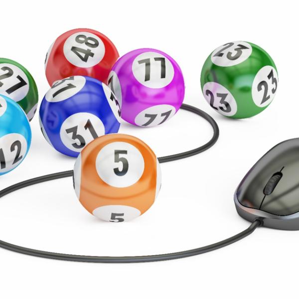 Bingo balls and computer mouse