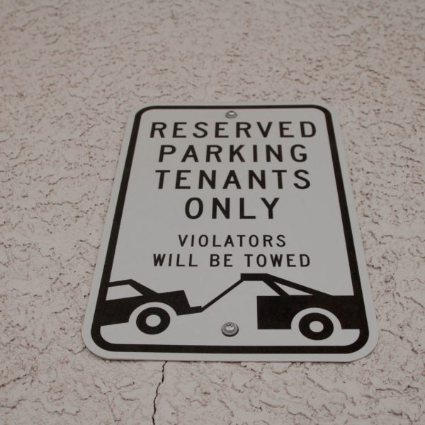 Reserved Parking - Tenants Only sign