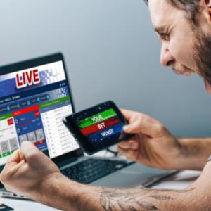 Man winning a bet