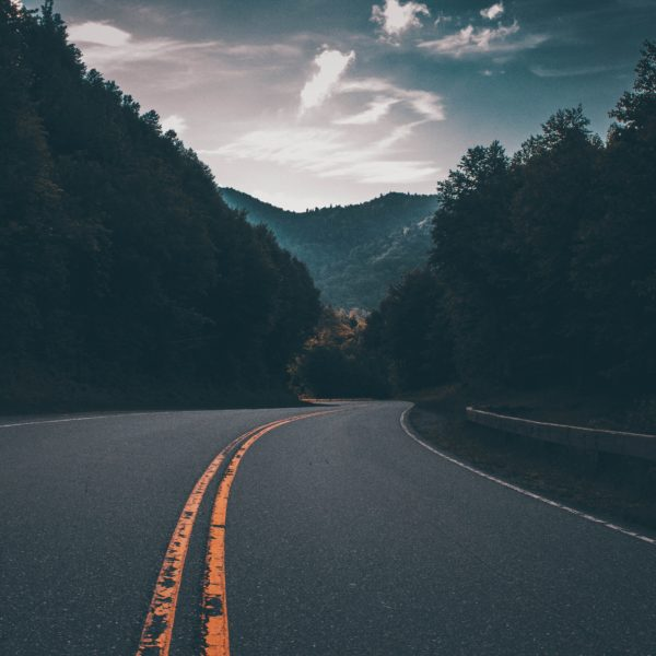 Road in Great Smoky Mountains, USA