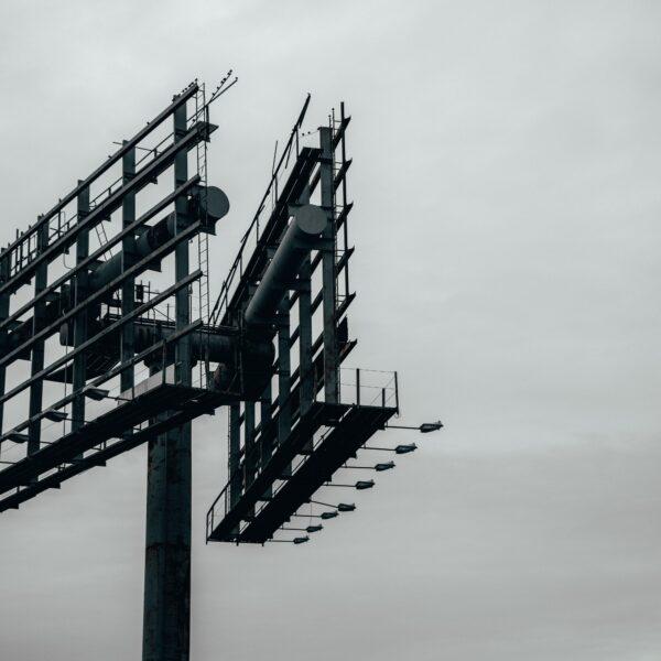 Metal billboard