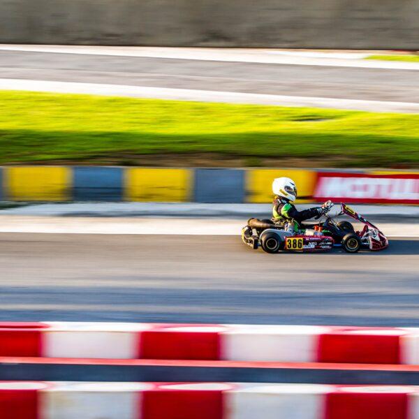 Go-kart on a race track