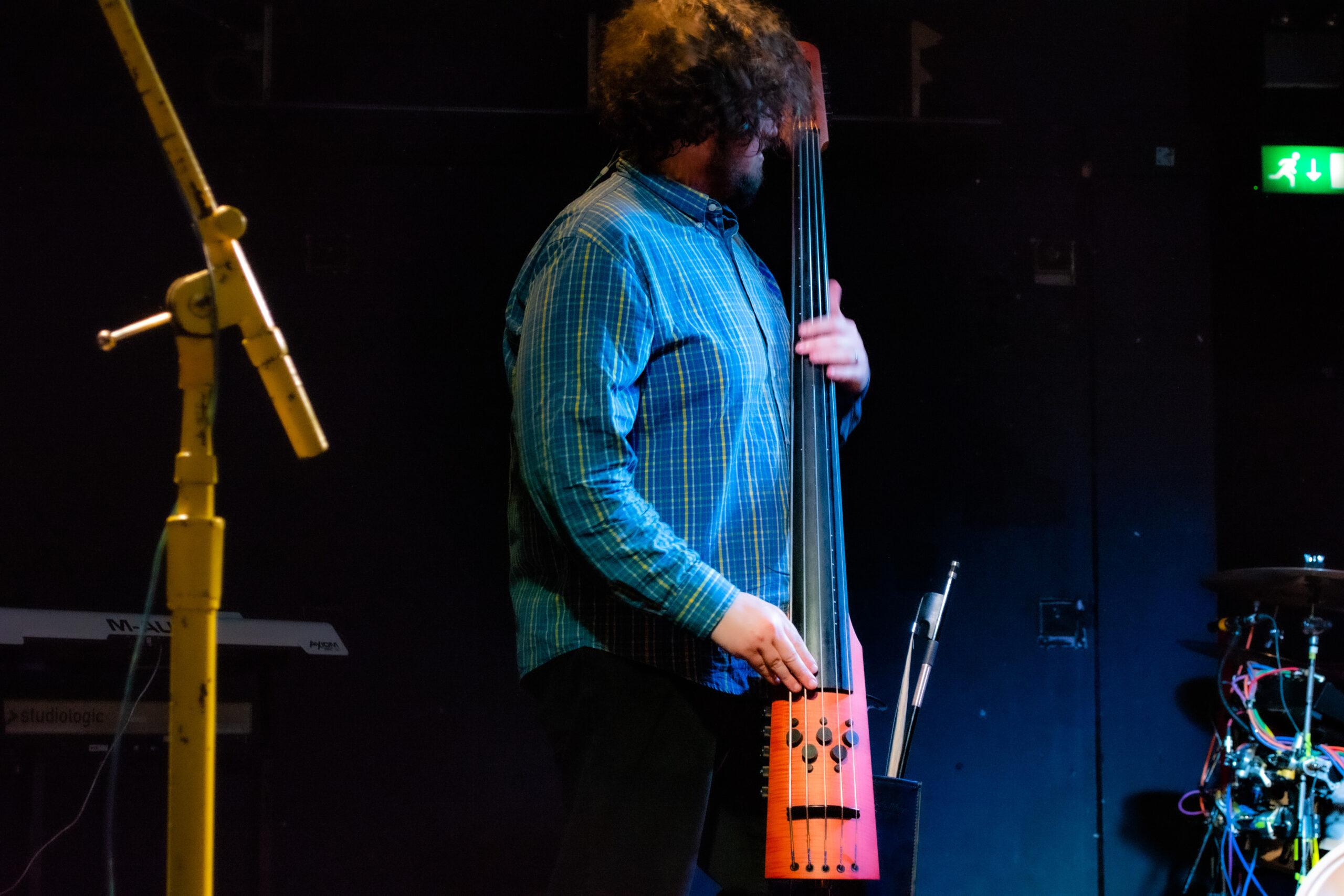 Matthew Milligan playing upright bass