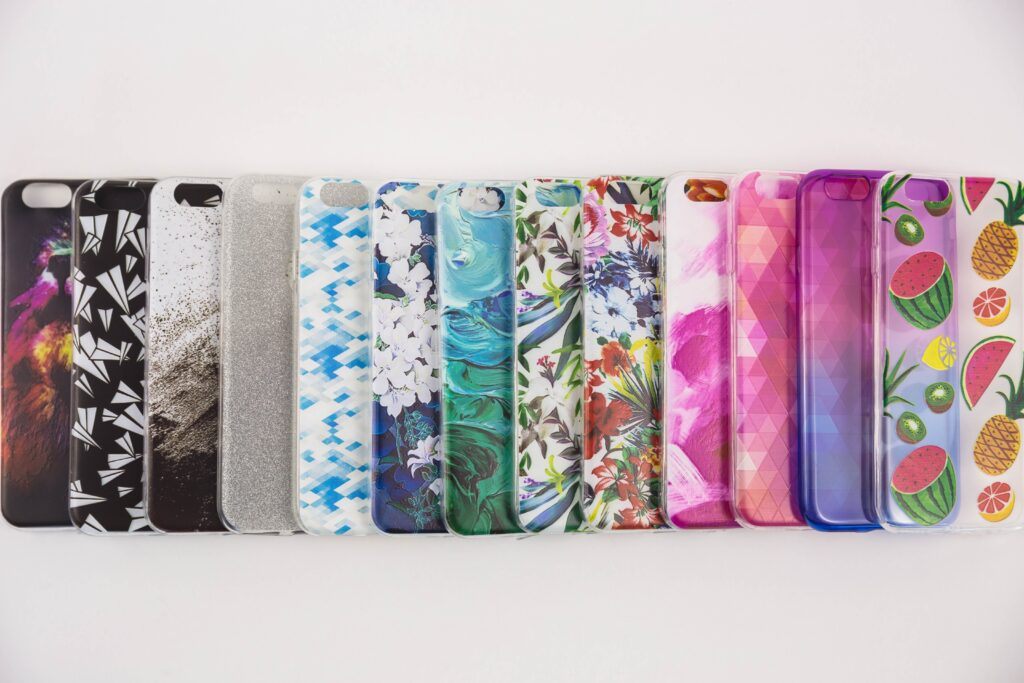 assorted-color-smartphone-cases