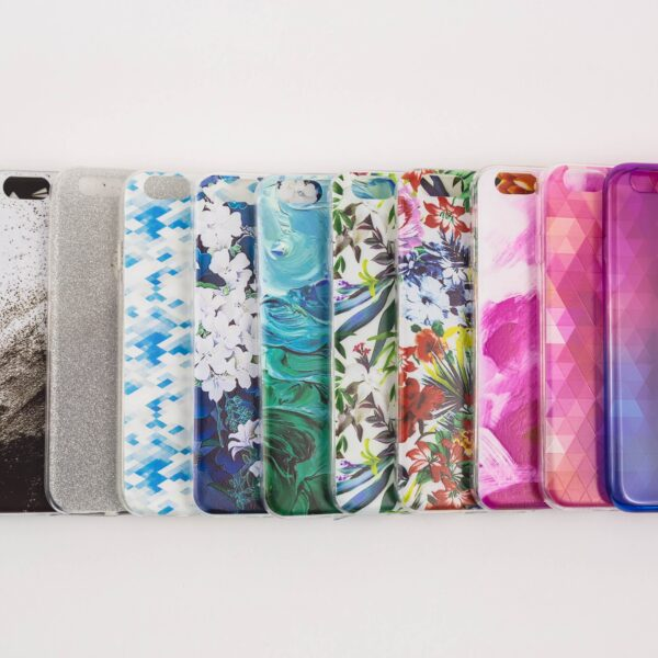 Colourful smartphone cases