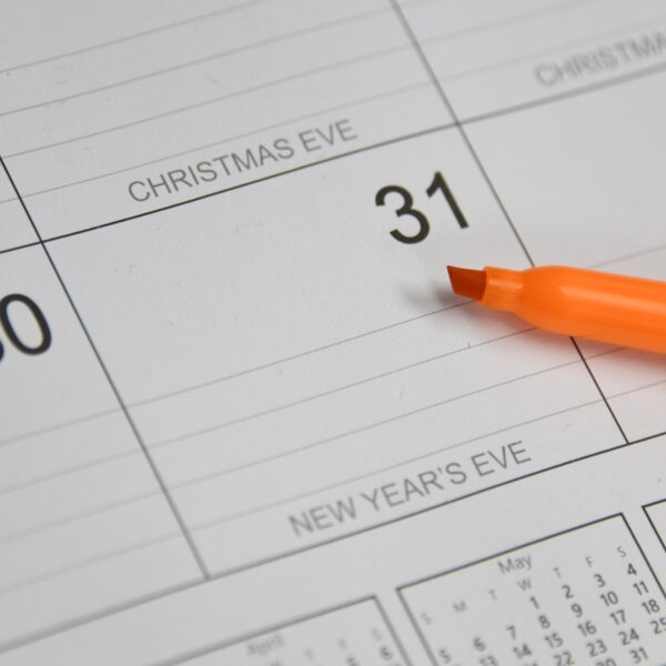 Pen on a calendar