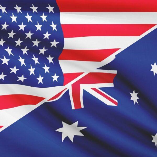 USA and Australian flags