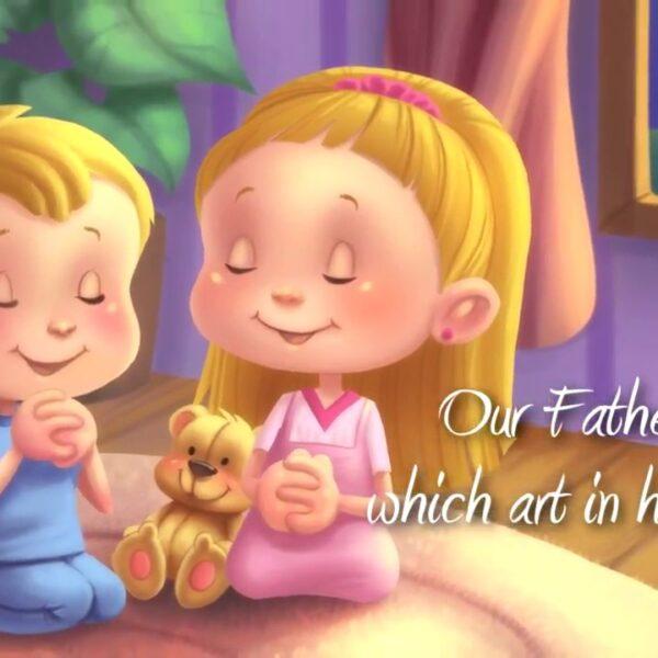Children saying prayers